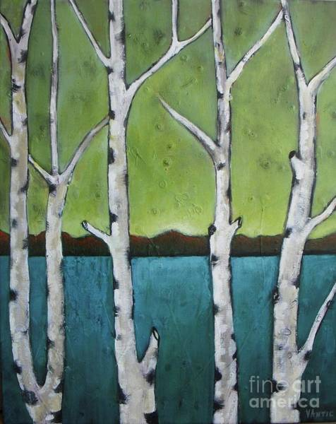 Antic Photograph - Aspen Trees On The Lake by Vesna Antic
