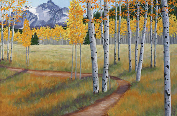 Wall Art - Painting - Aspens I by Julie Peterson