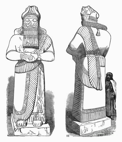 Drawing - Assyrian Statue by Granger
