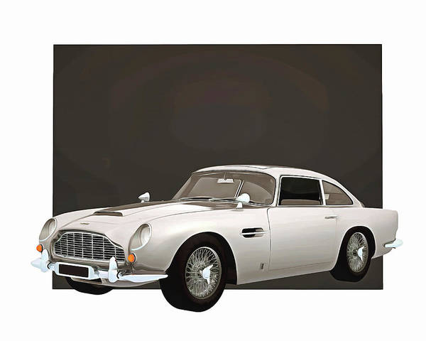 Digital Art - Aston Martin Db5 by Jan Keteleer