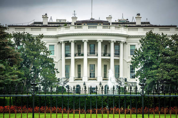 Wall Art - Photograph - At The White House In Washington Dc by Alex Grichenko