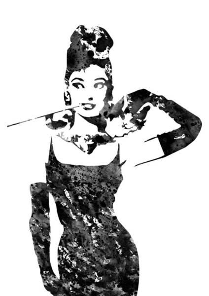 Wall Art - Digital Art - Audrey Hepburn by Erzebet S
