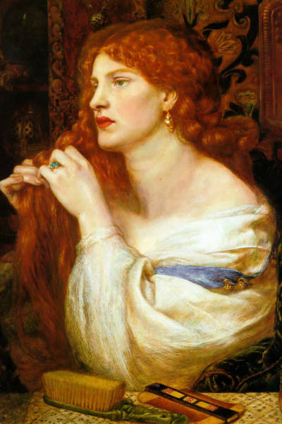 Wall Art - Painting - Aurelia, Fazio's Mistress by Dante Gabriel Rossetti