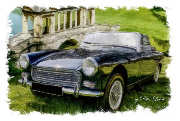 Digital Art - Austin Healey Sprite by Peter Leech