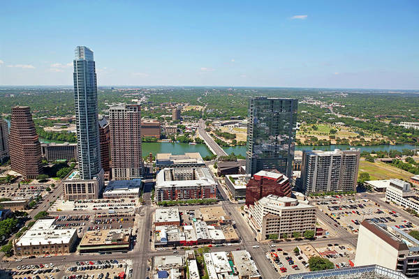 Wall Art - Photograph - Austin Texas Aerial Of A Cityscape by Jodijacobson