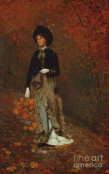 Wall Art - Painting - Autumn, 1877  by Winslow Homer