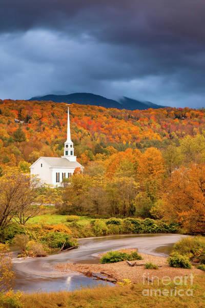 Photograph - Autumn Church by Brian Jannsen