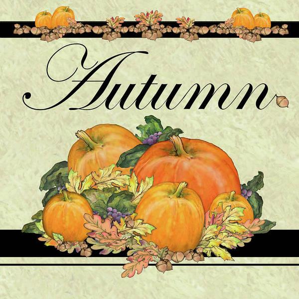 Wall Art - Painting - Autumn Pumpkins by Diannart