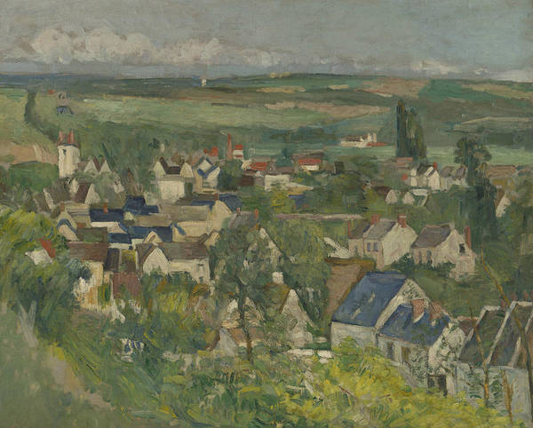 Wall Art - Painting - Auvers, Panoramic View by Paul Cezanne