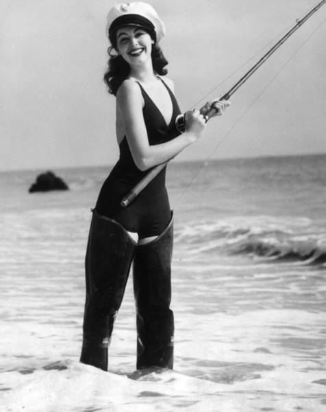 Sport Fishing Photograph - Ava Gardner by Hulton Archive