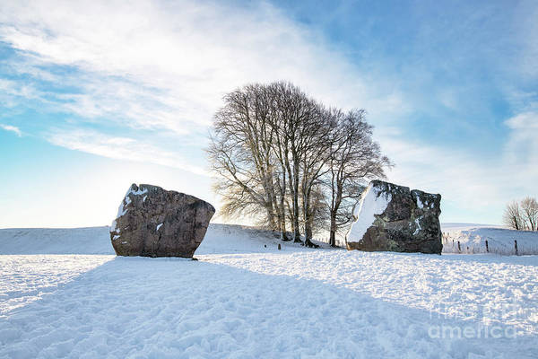 Photograph - Avebury Stone Circle In The Winter Snow  by Tim Gainey
