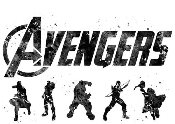 Wall Art - Digital Art -  Avengers Team by Erzebet S