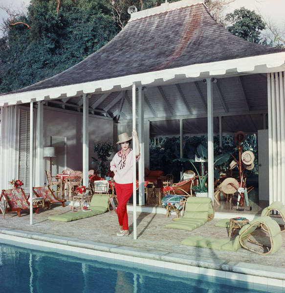 Villa Photograph - Babe Paley by Slim Aarons