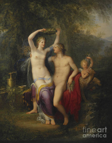 Drunk Painting - Bacchus And Ariadne by Jonas Akerstrom