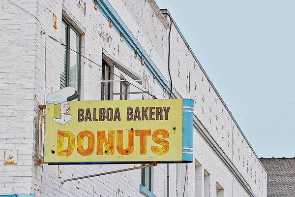 Wall Art - Photograph - Balboa Bakery Donuts by Carol Leigh