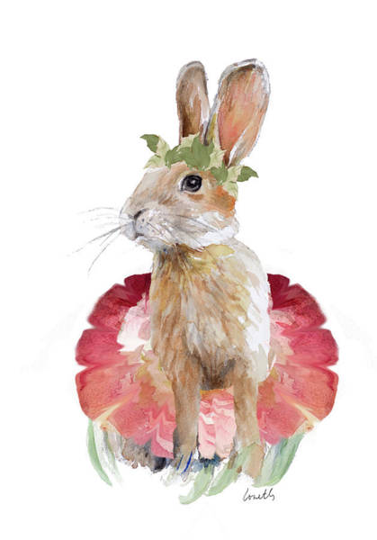 Wall Art - Painting - Ballet Bunny I by Lanie Loreth