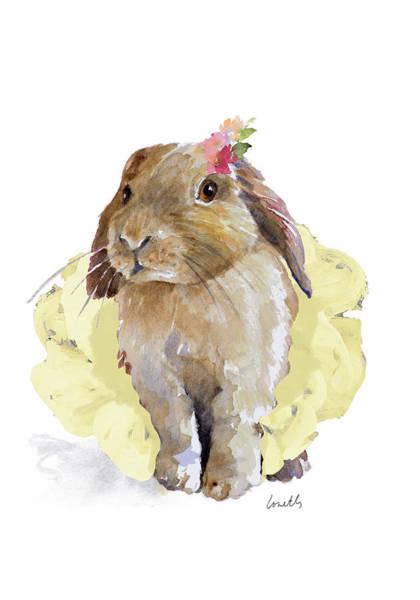 Wall Art - Painting - Ballet Bunny II by Lanie Loreth