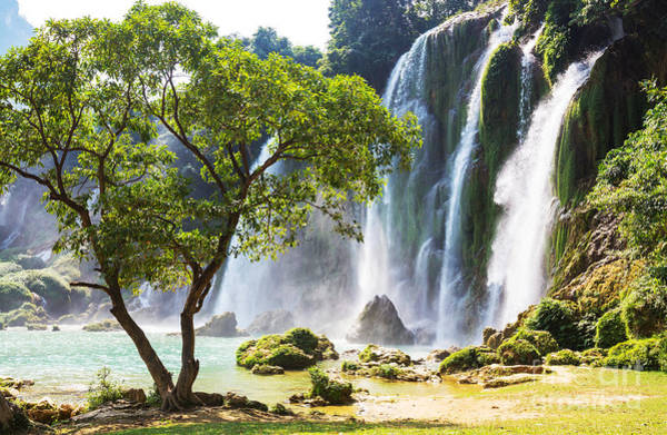 Wall Art - Photograph - Ban Gioc - Detian Waterfall In  Vietnam by Galyna Andrushko