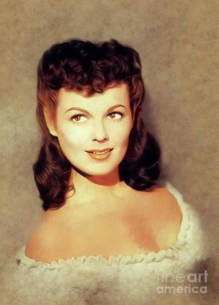 Wall Art - Painting - Barbara Hale, Vintage Actress by John Springfield
