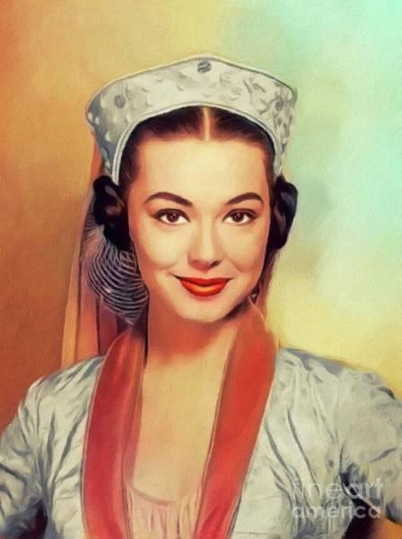 Wall Art - Painting - Barbara Rush, Vintage Actress by John Springfield