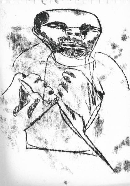 Drawing - Bare Knuckle Boxer by Artist Dot