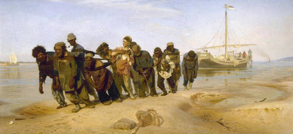 Collapse Painting - Barge Haulers On The Volga by Ilya Repin