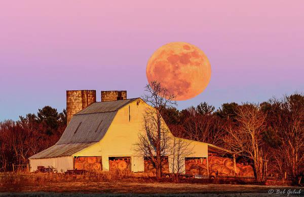 Wall Art - Photograph - Barn And Moon by Robert Golub