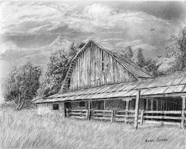 Drawing - Barn On Byhalia Road by Barry Jones