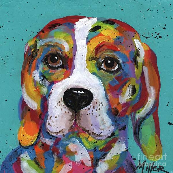 Wall Art - Painting - Barney Beagle by Tracy Miller