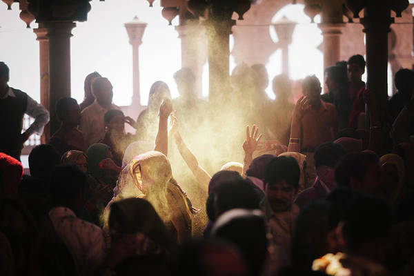 Holi Photograph - Barsana, India by Gavin Gough
