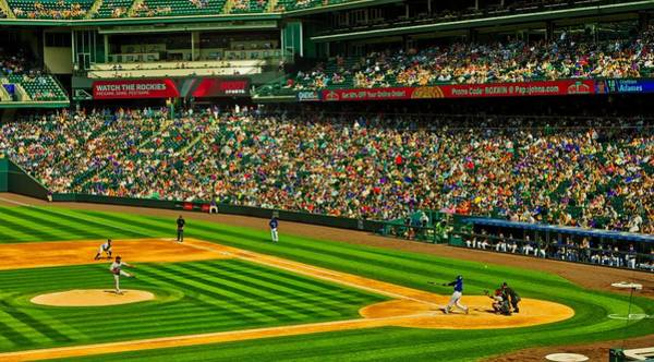 Wall Art - Photograph - Baseball At Coors Field by Mountain Dreams