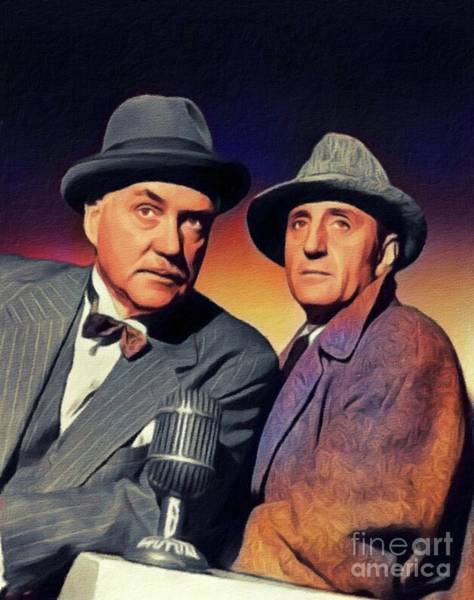 Wall Art - Painting - Basil Rathbone And Nigel Bruce by John Springfield