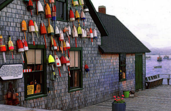 Wall Art - Photograph - Bass Harbor Lobster Floats by Mike Flynn