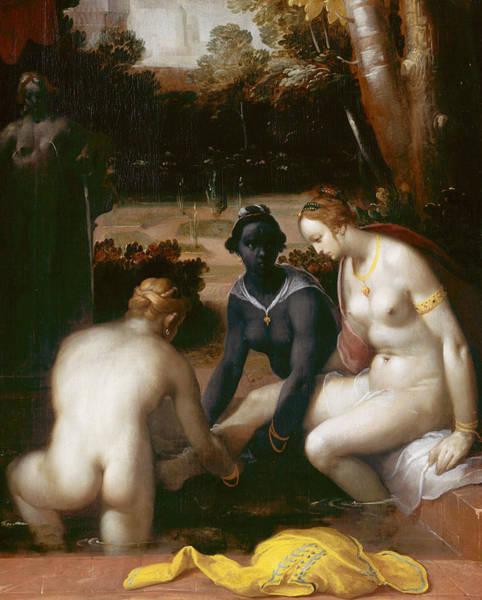 Painting - Bathseba At Her Bath by Cornelis van Haarlem