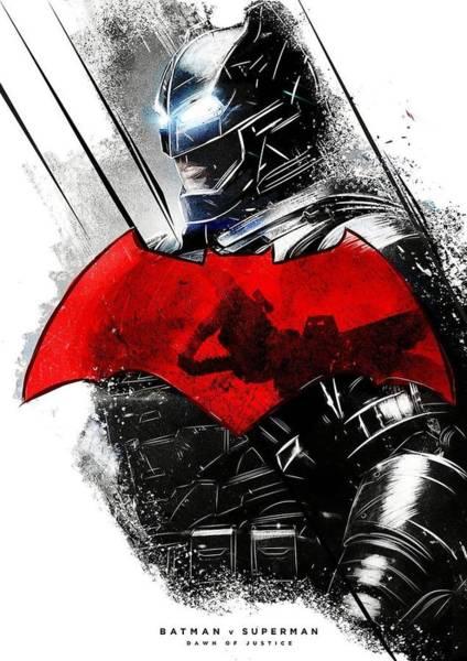 Robin Digital Art - Batman Vs Superman by Geek N Rock