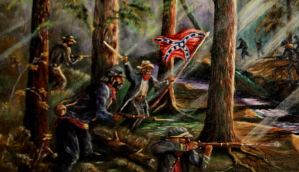 Stonewall Jackson Painting - Battle Of Chancellorsville - The Wilderness by Philip Bracco
