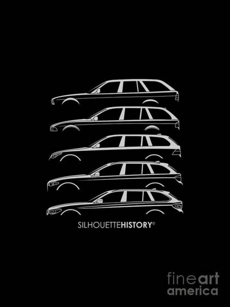 Wagon Digital Art - Bavarian Five Wagon Silhouettehistory by Gabor Vida