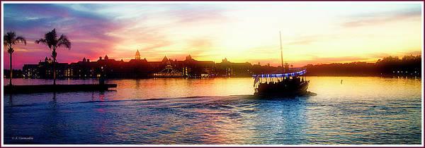 Photograph - Bay Lake Sunset, Walt Disney World by A Gurmankin