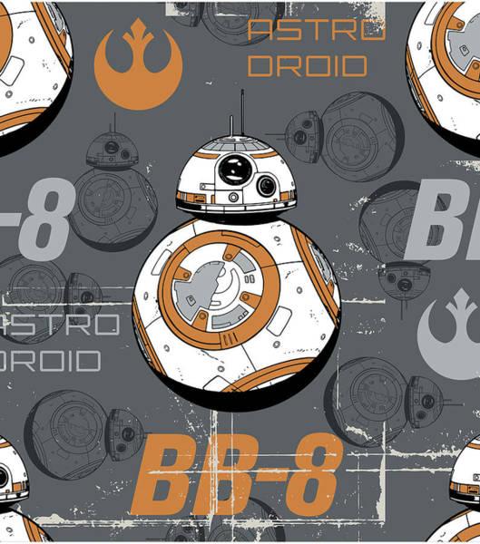 Star Wars Wall Art - Digital Art - Bb-8 by Geek N Rock