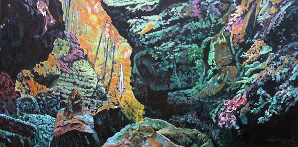 Wall Art - Painting - Be Still by John Lautermilch