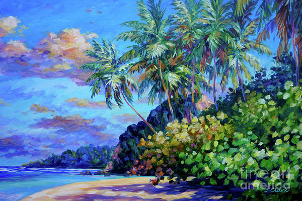 Wall Art - Painting - Beach At Ortoire by John Clark