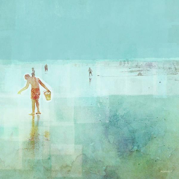 Wall Art - Painting - Beach Day Shelling by Dan Meneely