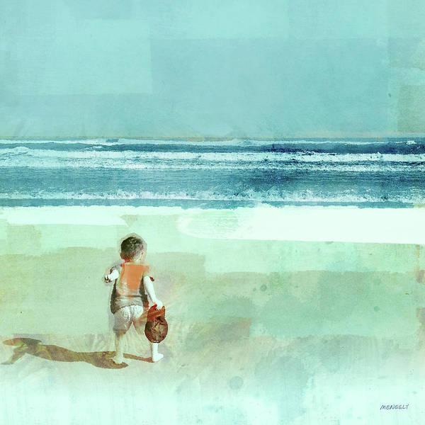 Wall Art - Painting - Beach Day Throwing by Dan Meneely