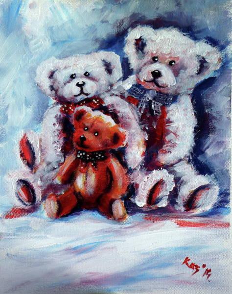 Wall Art - Painting - Bears by Kovacs Anna Brigitta