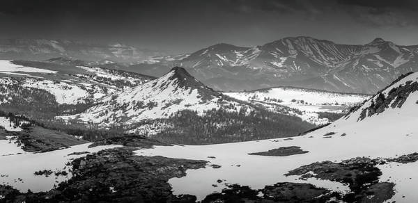 Photograph - Beartooth Mountain Range Black And White by Dan Sproul