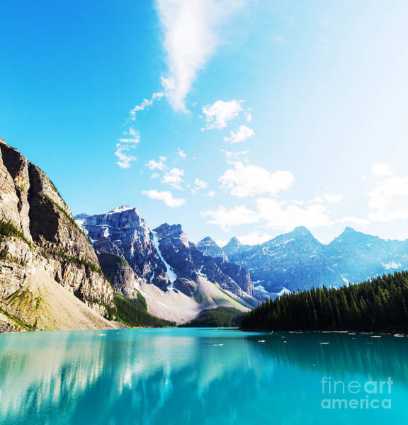Wall Art - Photograph - Beautiful Moraine Lake In Banff by Galyna Andrushko