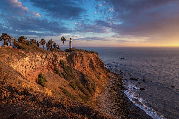 Photograph - Beautiful Point Vicente Lighthouse At Sunset by Andy Konieczny