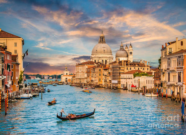 Wall Art - Photograph - Beautiful View Of Traditional Gondola by Canadastock