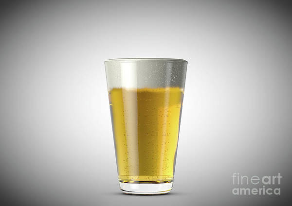 Frosty Digital Art - Beer Pint by Allan Swart
