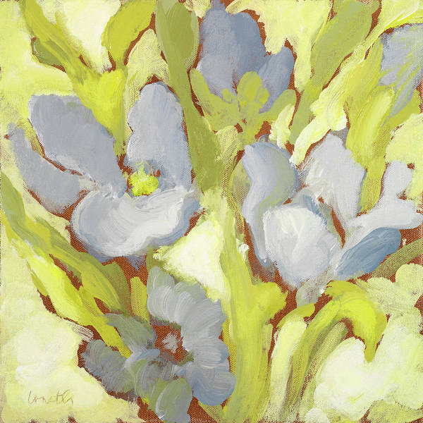 Wall Art - Painting - Begonia Bleu II by Lanie Loreth